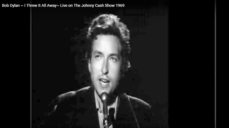 """""""I Threw It All Away"""" by Bob Dylan – Live on The Johnny Cash Show, 1969"""
